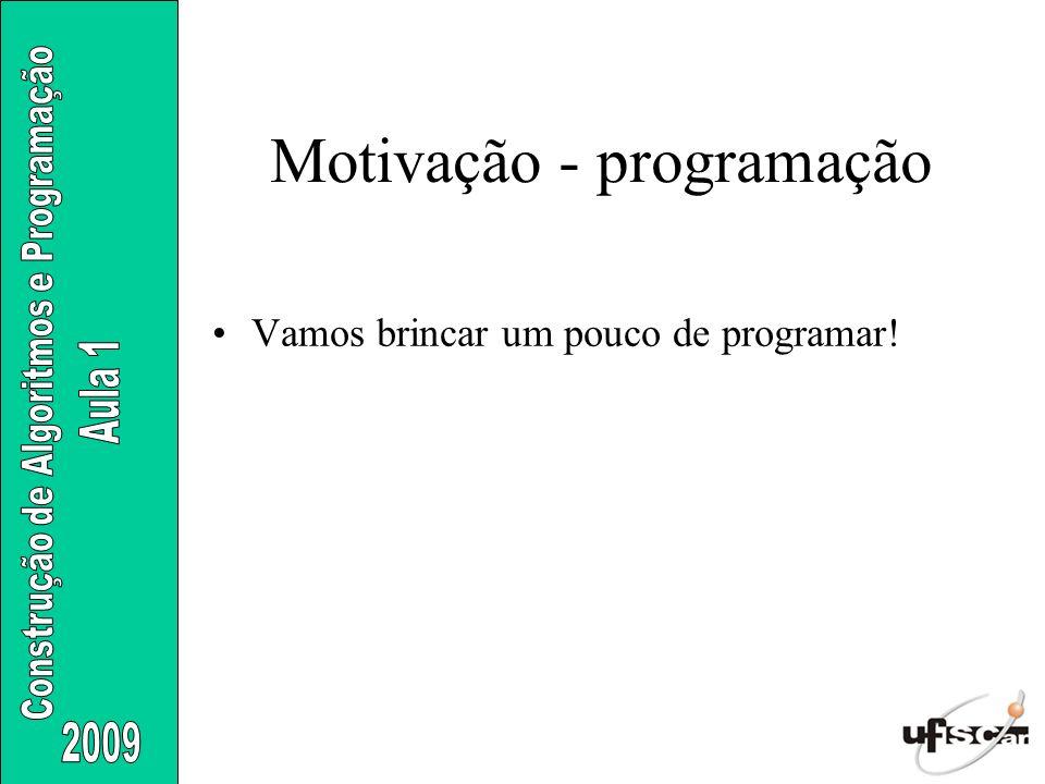 Motivação - programação
