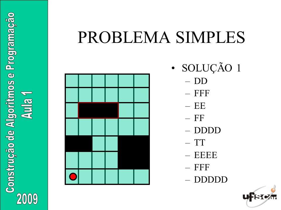 PROBLEMA SIMPLES SOLUÇÃO 1 DD FFF EE FF DDDD TT EEEE DDDDD
