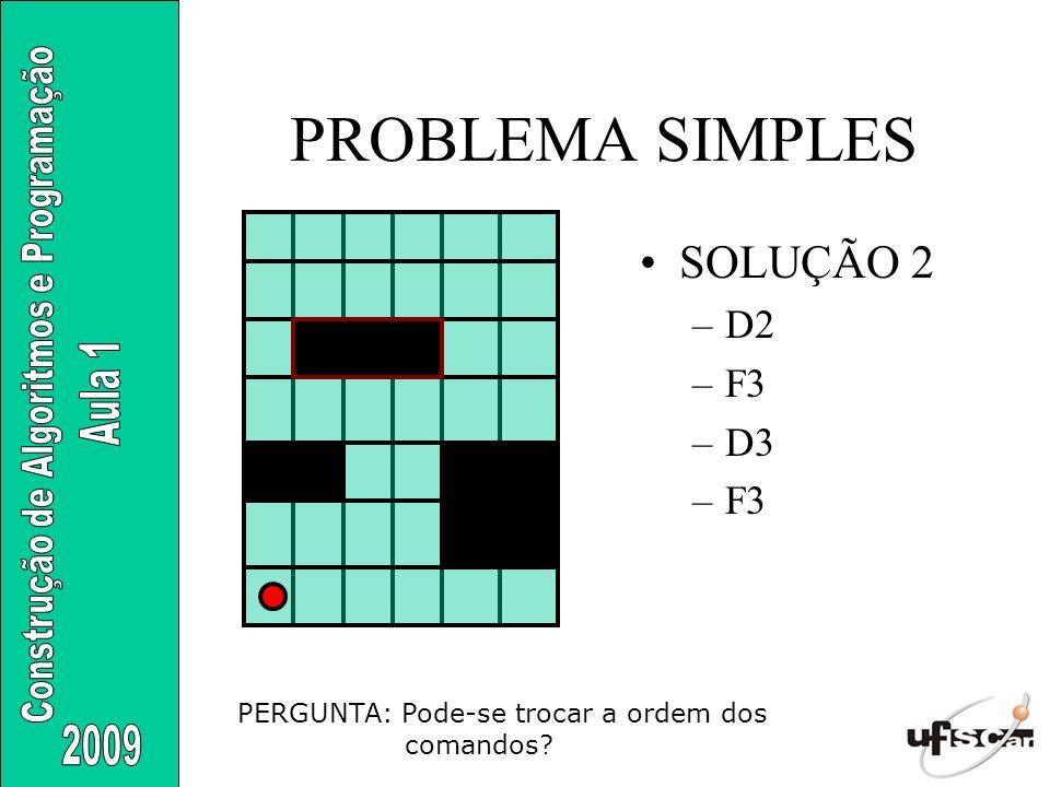 PROBLEMA SIMPLES SOLUÇÃO 2 D2 F3 D3