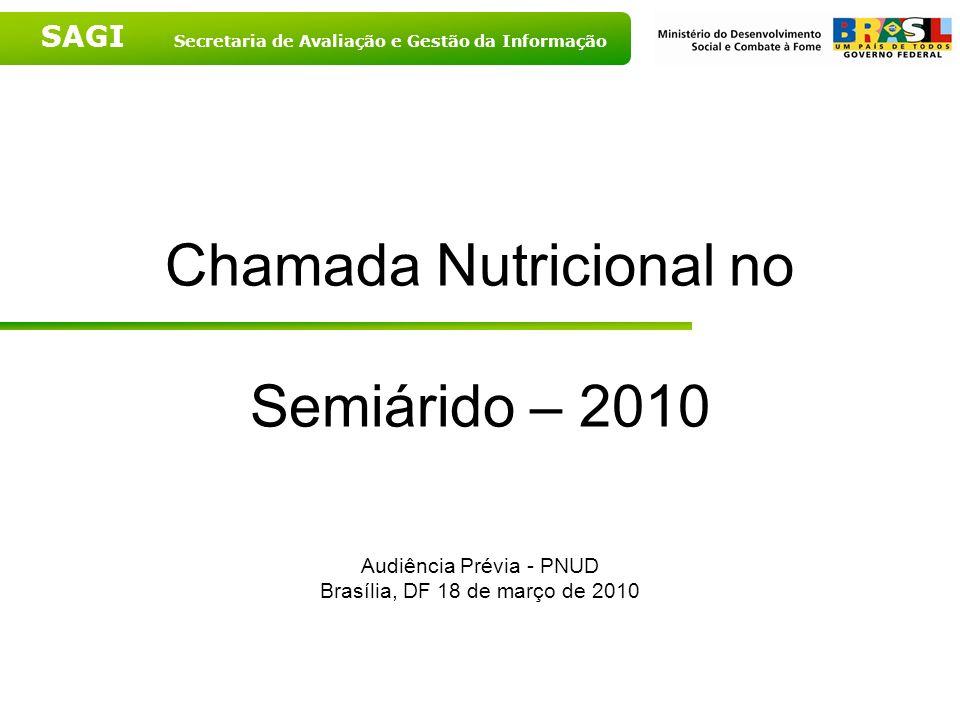 Chamada Nutricional no Semiárido – 2010