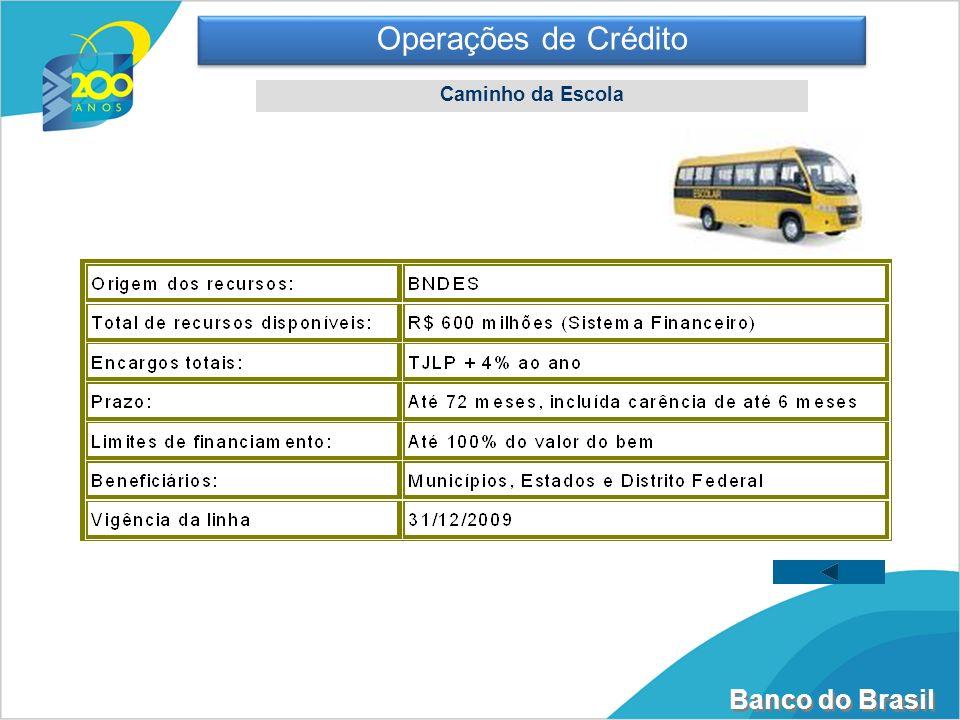 Operações de Crédito Caminho da Escola