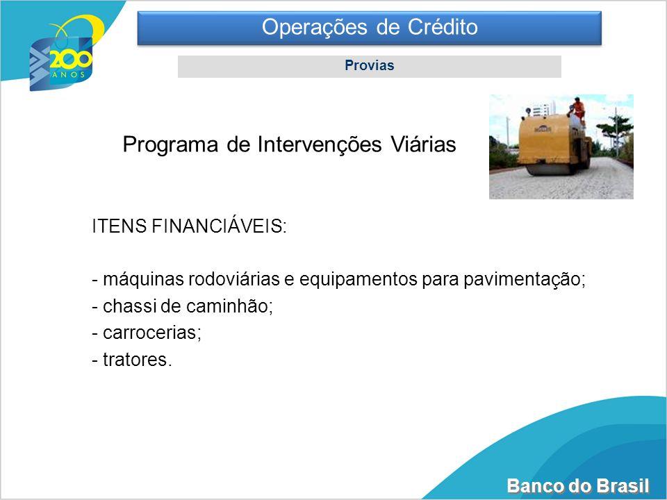 Programa de Intervenções Viárias