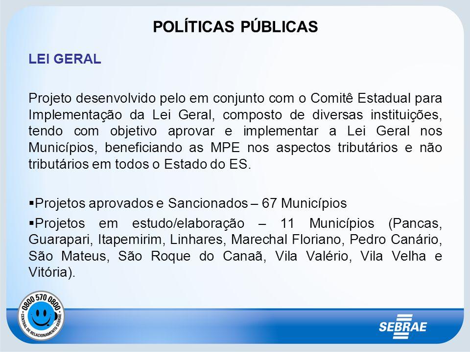 POLÍTICAS PÚBLICAS LEI GERAL