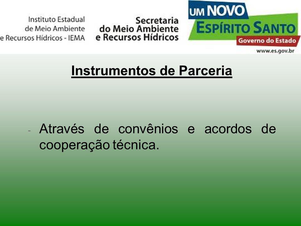 Instrumentos de Parceria