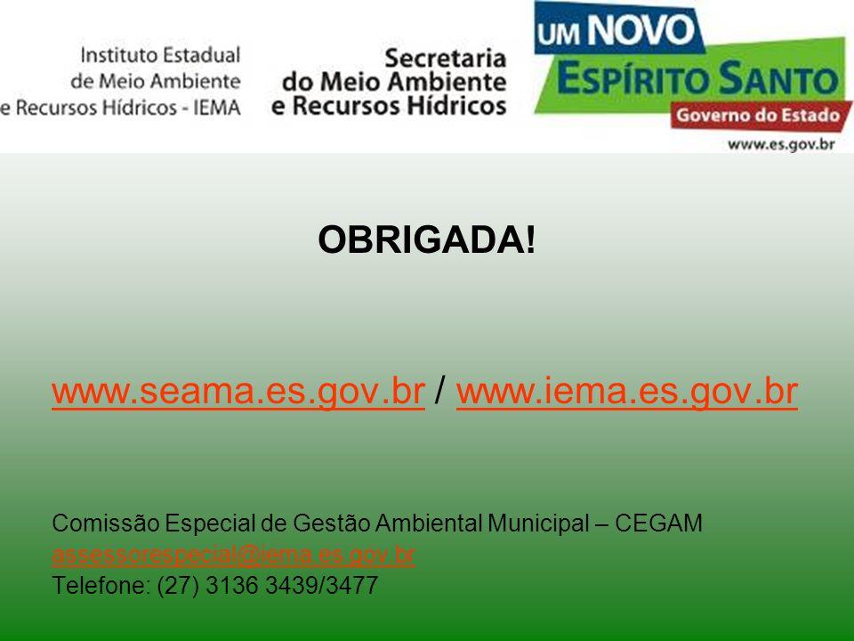 www.seama.es.gov.br / www.iema.es.gov.br