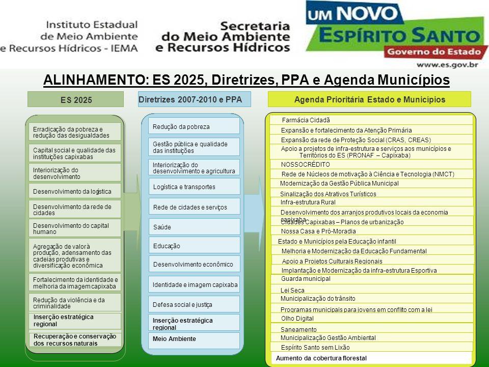 ALINHAMENTO: ES 2025, Diretrizes, PPA e Agenda Municípios