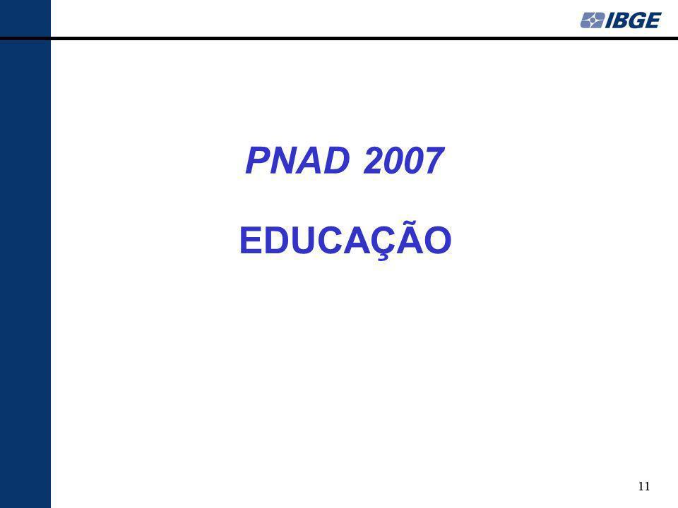 PNAD 2007 EDUCAÇÃO 11 11