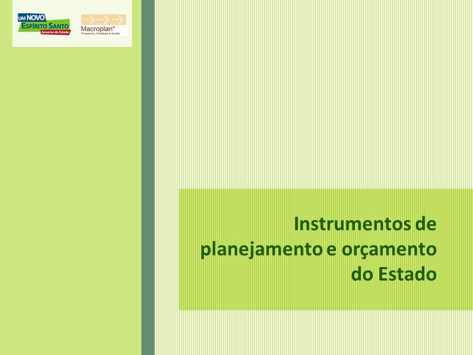 Instrumentos de planejamento e orçamento do Estado