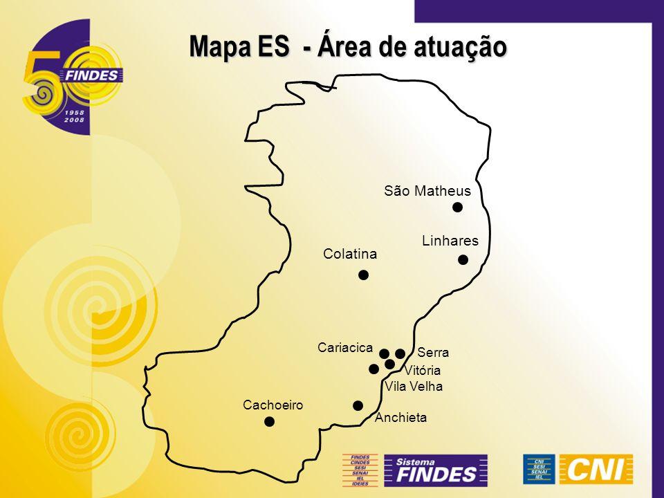Mapa ES - Área de atuação