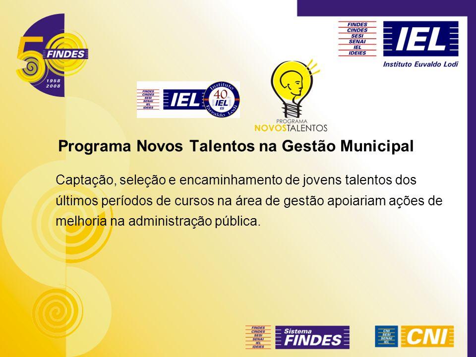 Programa Novos Talentos na Gestão Municipal