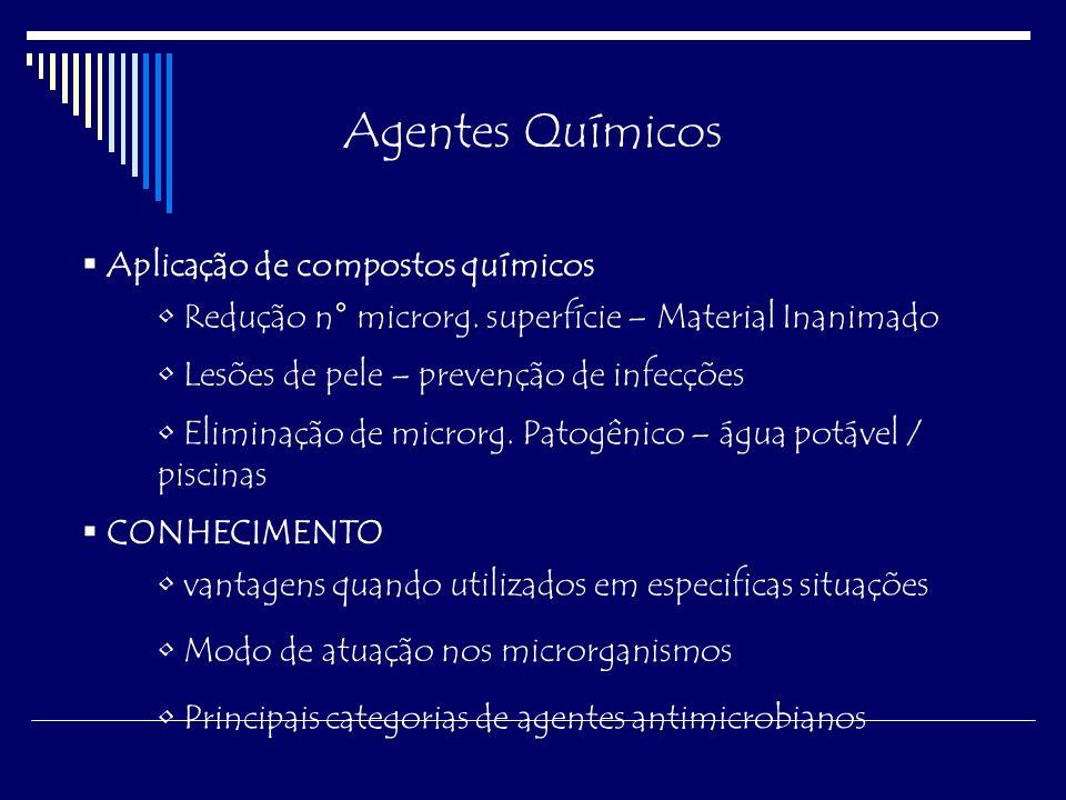 Agentes Químicos Aplicação de compostos químicos