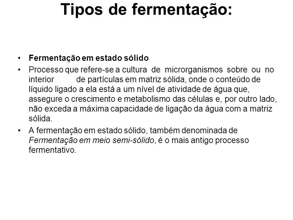 Tipos de fermentação: Fermentação em estado sólido