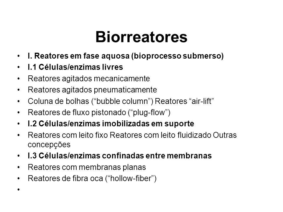 Biorreatores I. Reatores em fase aquosa (bioprocesso submerso)