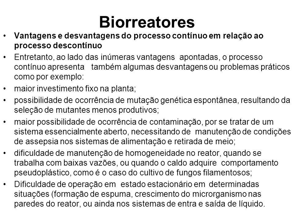 BiorreatoresVantagens e desvantagens do processo contínuo em relação ao processo descontínuo.