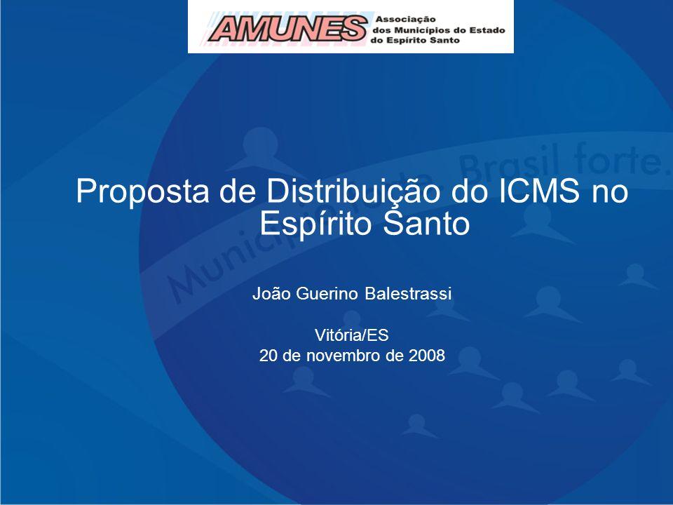 Proposta de Distribuição do ICMS no Espírito Santo