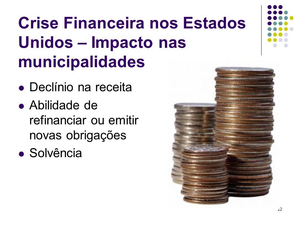 Crise Financeira nos Estados Unidos – Impacto nas municipalidades