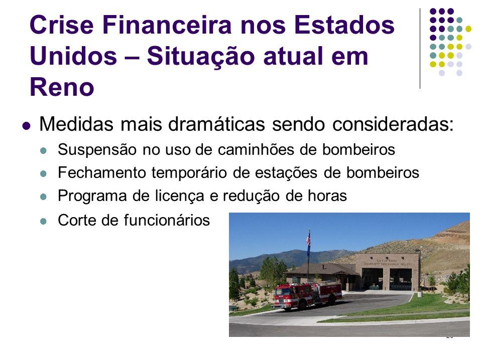 Crise Financeira nos Estados Unidos – Situação atual em Reno