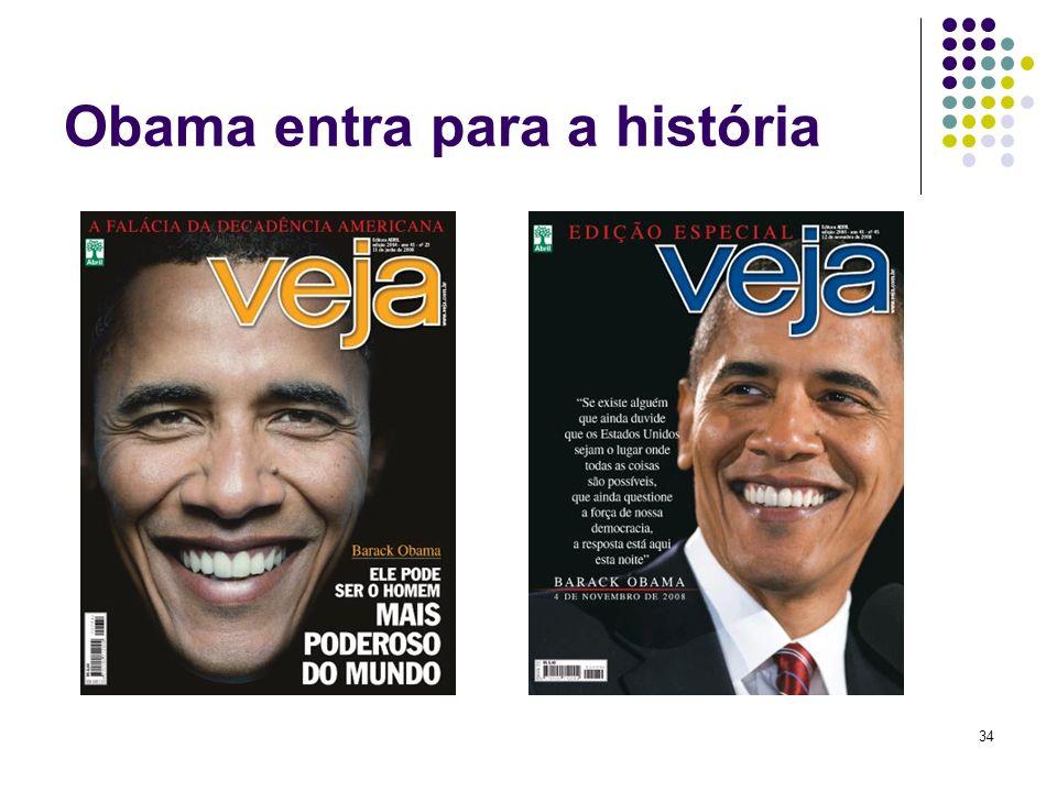 Obama entra para a história