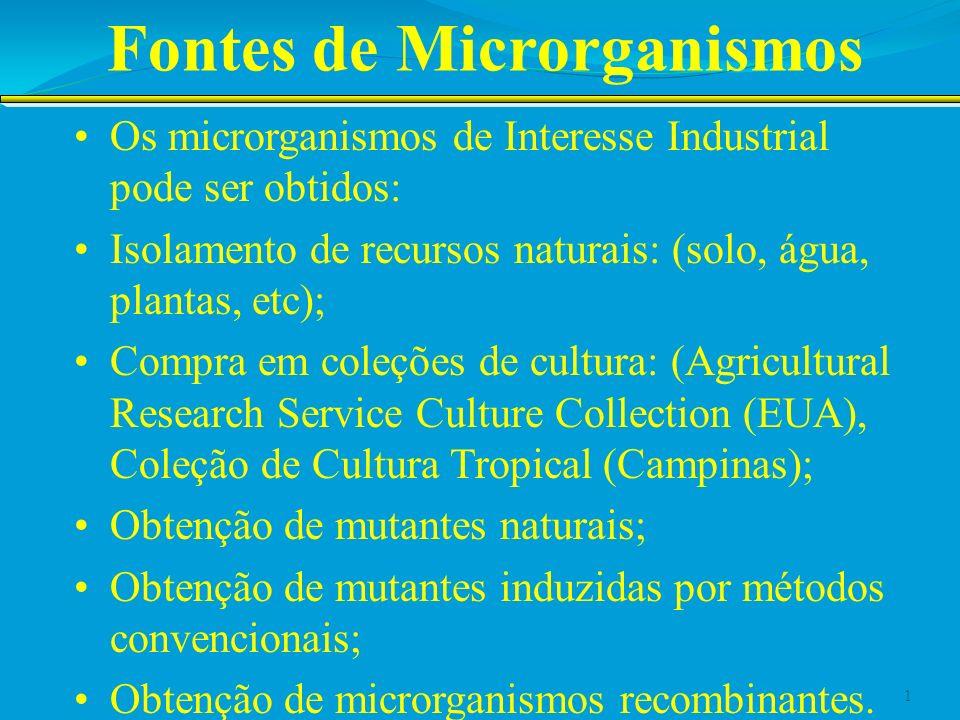 Fontes de Microrganismos