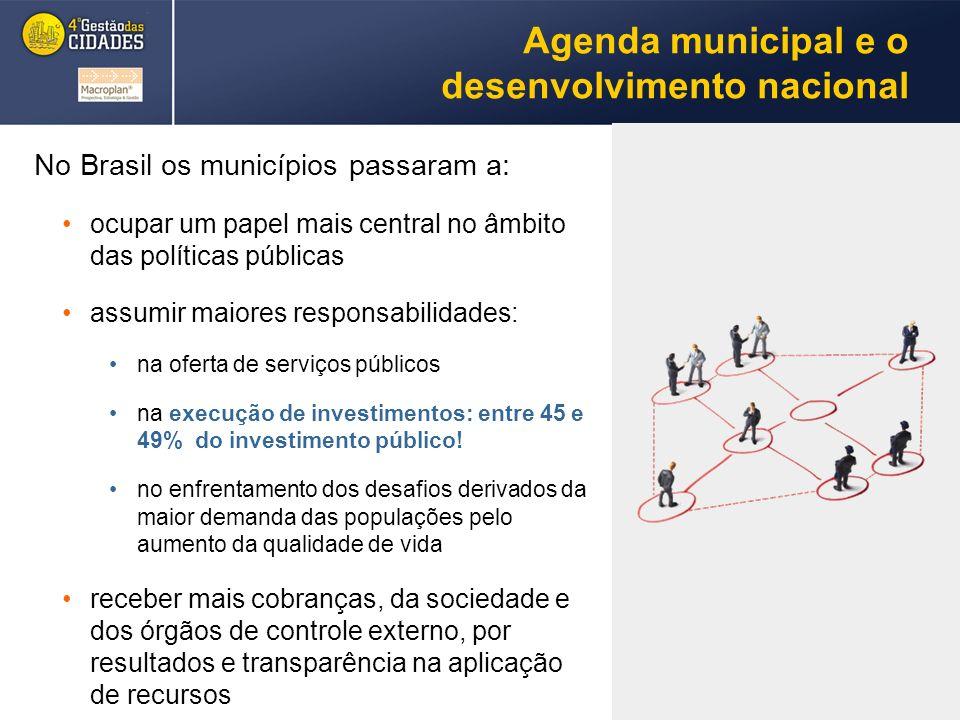Agenda municipal e o desenvolvimento nacional