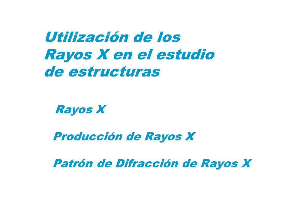 Utilización de los Rayos X en el estudio de estructuras