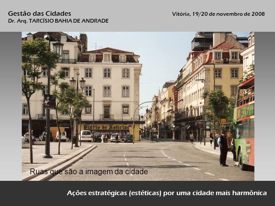 Ruas que são a imagem da cidade