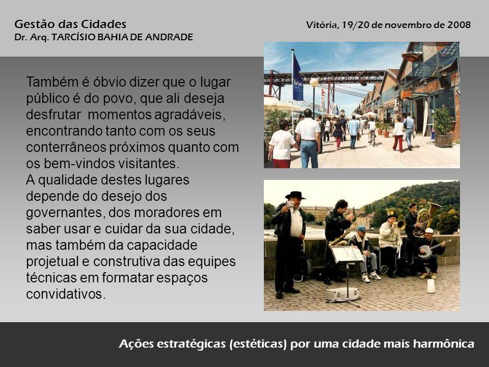 Gestão das Cidades Vitória, 19/20 de novembro de 2008