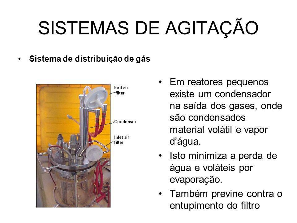 SISTEMAS DE AGITAÇÃO Sistema de distribuição de gás.