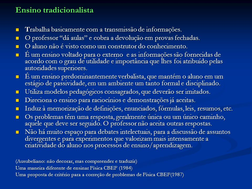 Ensino tradicionalista