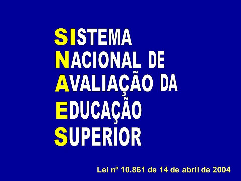 STEMA ACIONAL VALIAÇÃO DUCAÇÃO S UPERIOR DE DA A E