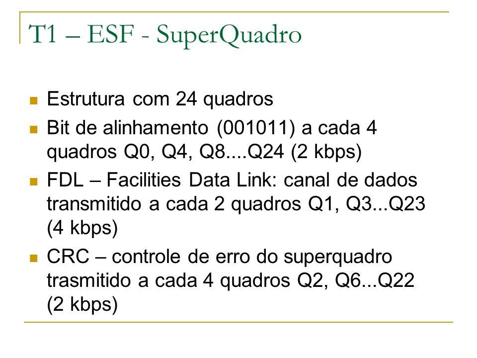 T1 – ESF - SuperQuadro Estrutura com 24 quadros