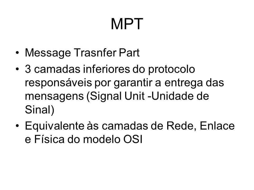MPT Message Trasnfer Part