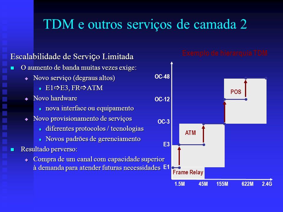 TDM e outros serviços de camada 2