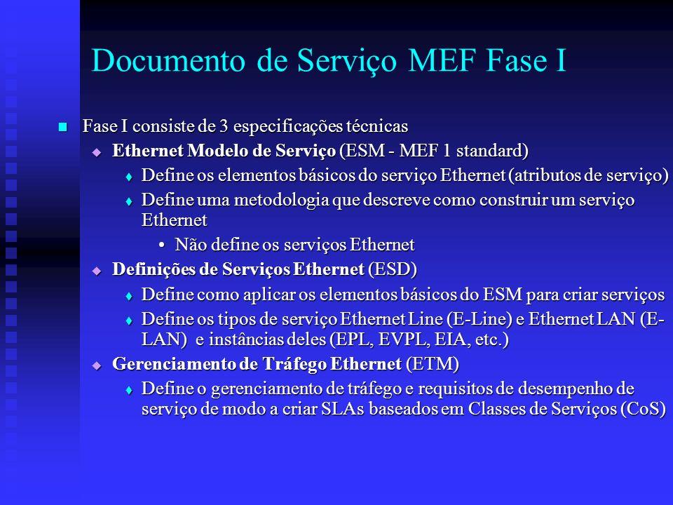 Documento de Serviço MEF Fase I