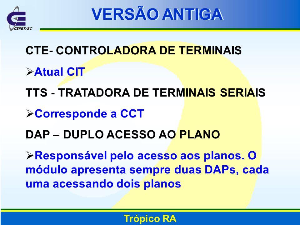 VERSÃO ANTIGA CTE- CONTROLADORA DE TERMINAIS Atual CIT