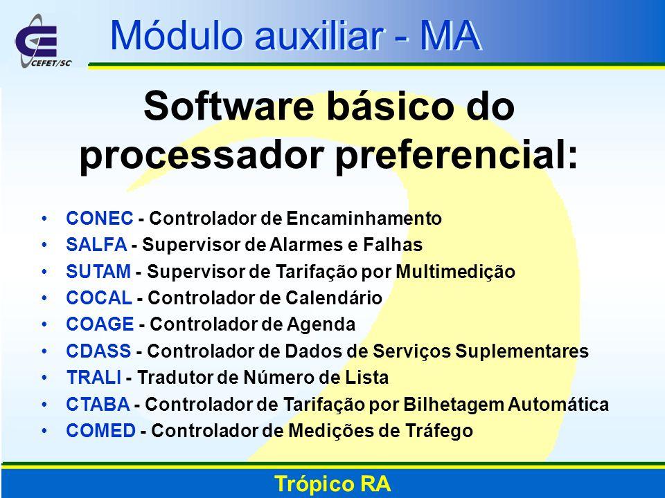 Software básico do processador preferencial: