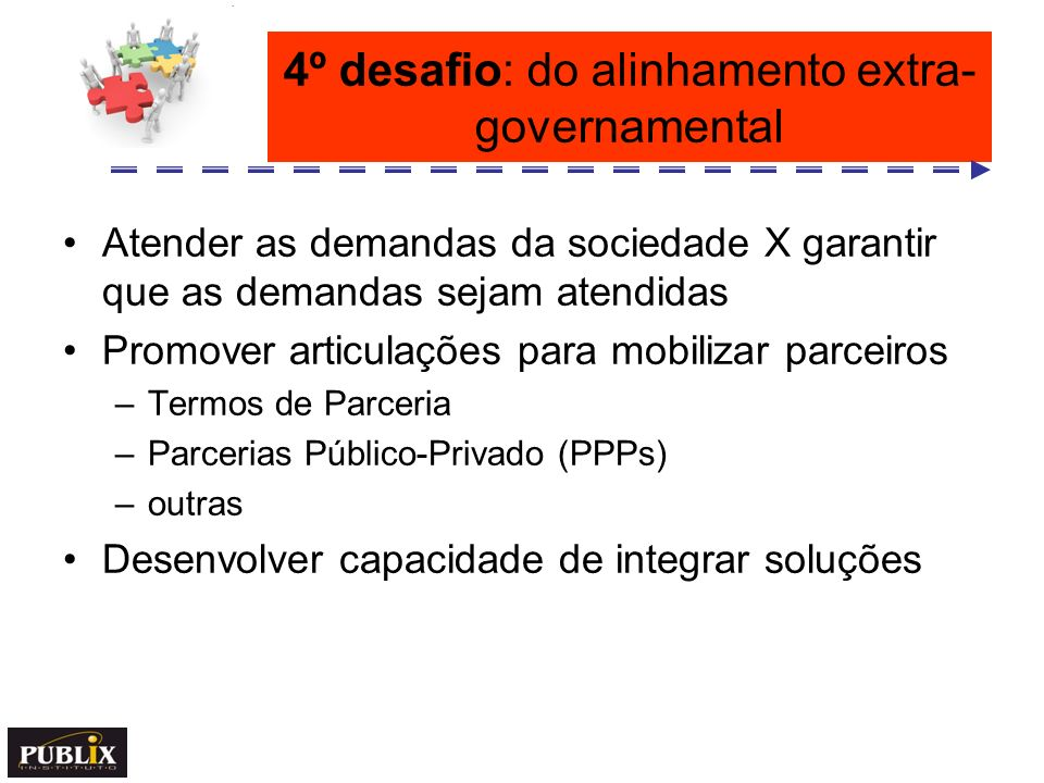4º desafio: do alinhamento extra-governamental