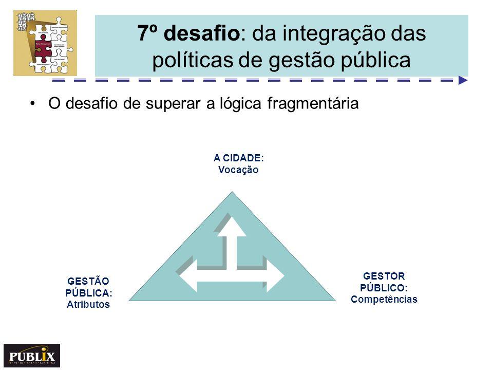 7º desafio: da integração das políticas de gestão pública