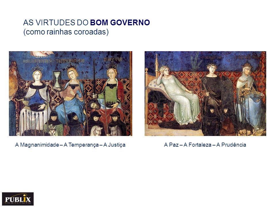 AS VIRTUDES DO BOM GOVERNO (como rainhas coroadas)