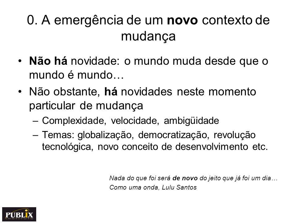 0. A emergência de um novo contexto de mudança