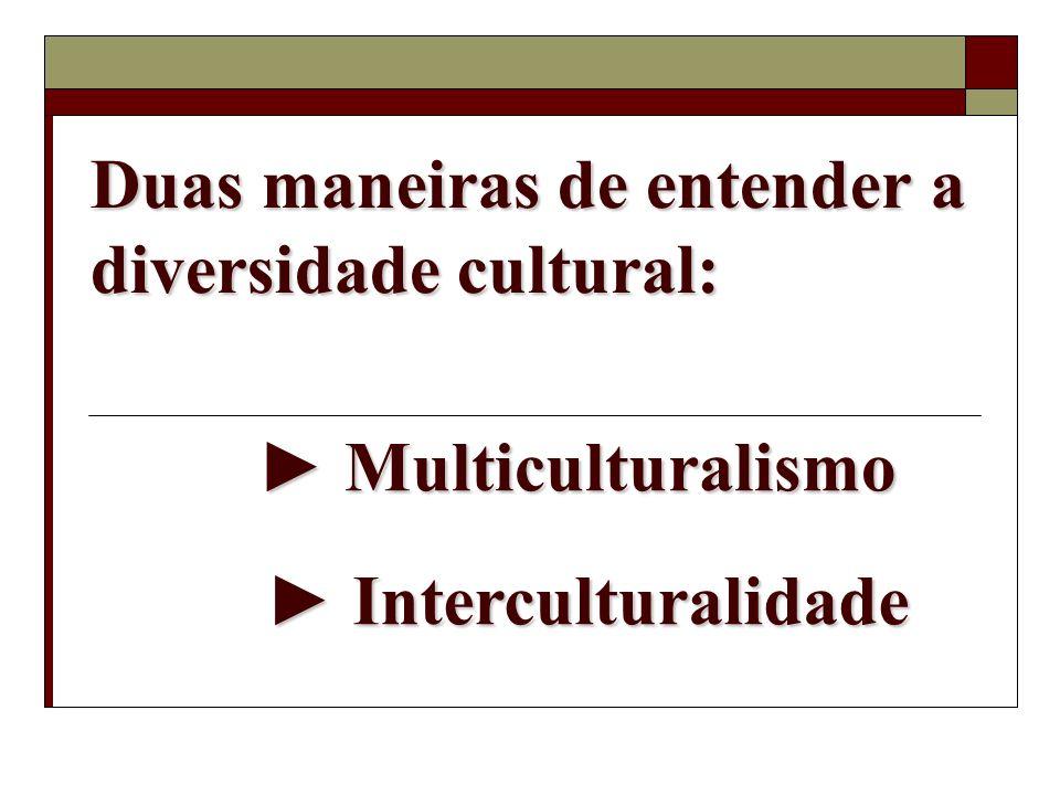 Duas maneiras de entender a diversidade cultural: