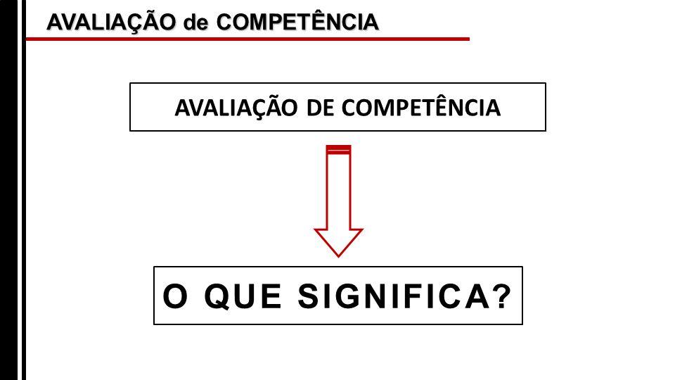 AVALIAÇÃO DE COMPETÊNCIA