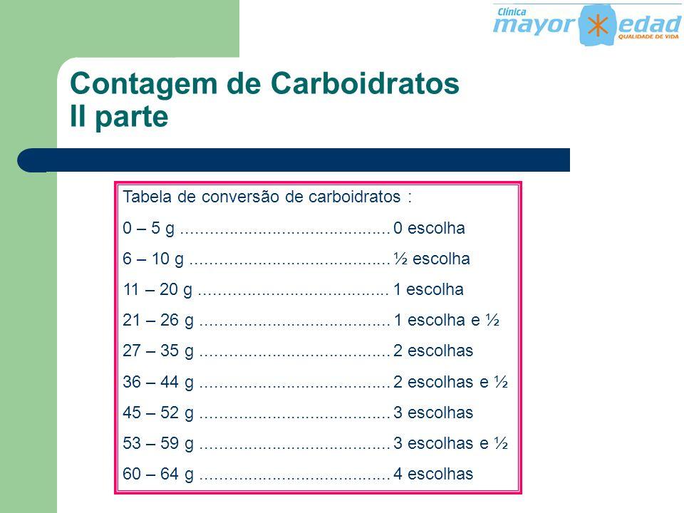 Contagem de Carboidratos II parte