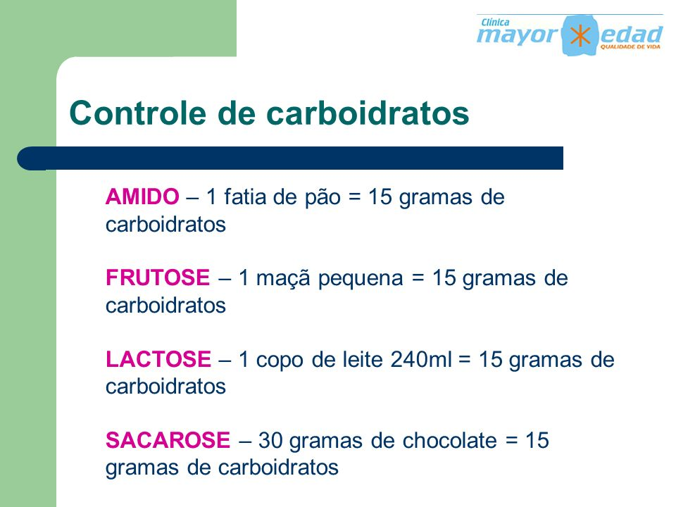 Controle de carboidratos