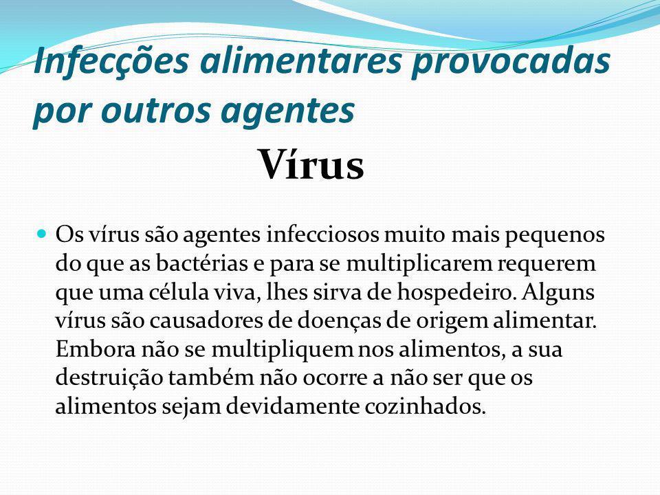 Infecções alimentares provocadas por outros agentes