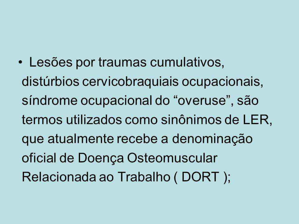Lesões por traumas cumulativos,