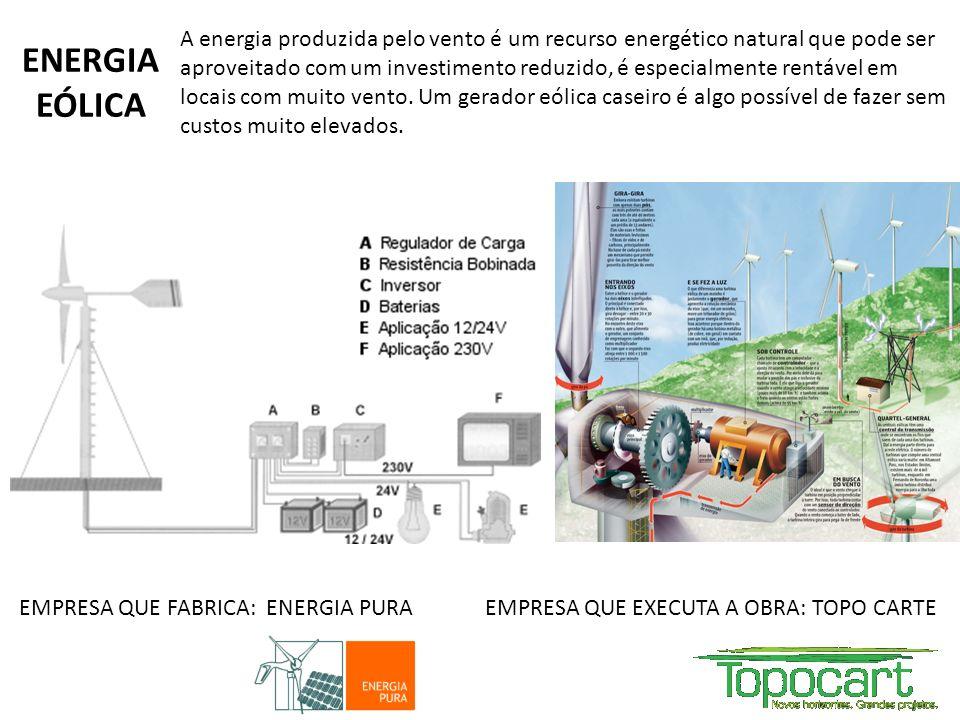 A energia produzida pelo vento é um recurso energético natural que pode ser aproveitado com um investimento reduzido, é especialmente rentável em locais com muito vento. Um gerador eólica caseiro é algo possível de fazer sem custos muito elevados.
