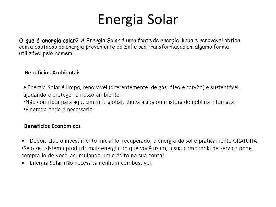 Energia Solar Benefícios Ambientais