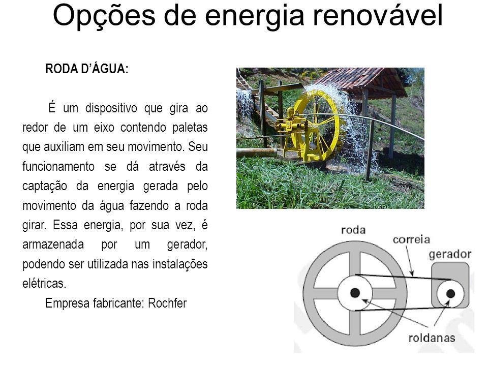 Opções de energia renovável