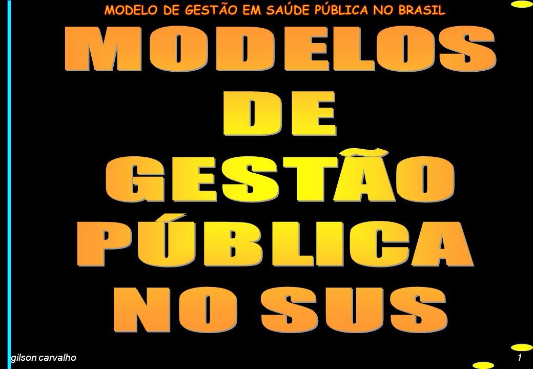 MODELOS DE GESTÃO PÚBLICA NO SUS